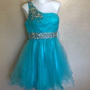May Queen Aqua Prom Dress